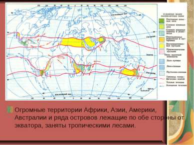 Огромные территории Африки, Азии, Америки, Австралии и ряда островов лежащие ...