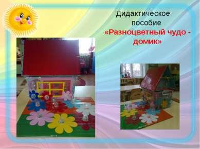 Дидактическое пособие «Разноцветный чудо - домик»