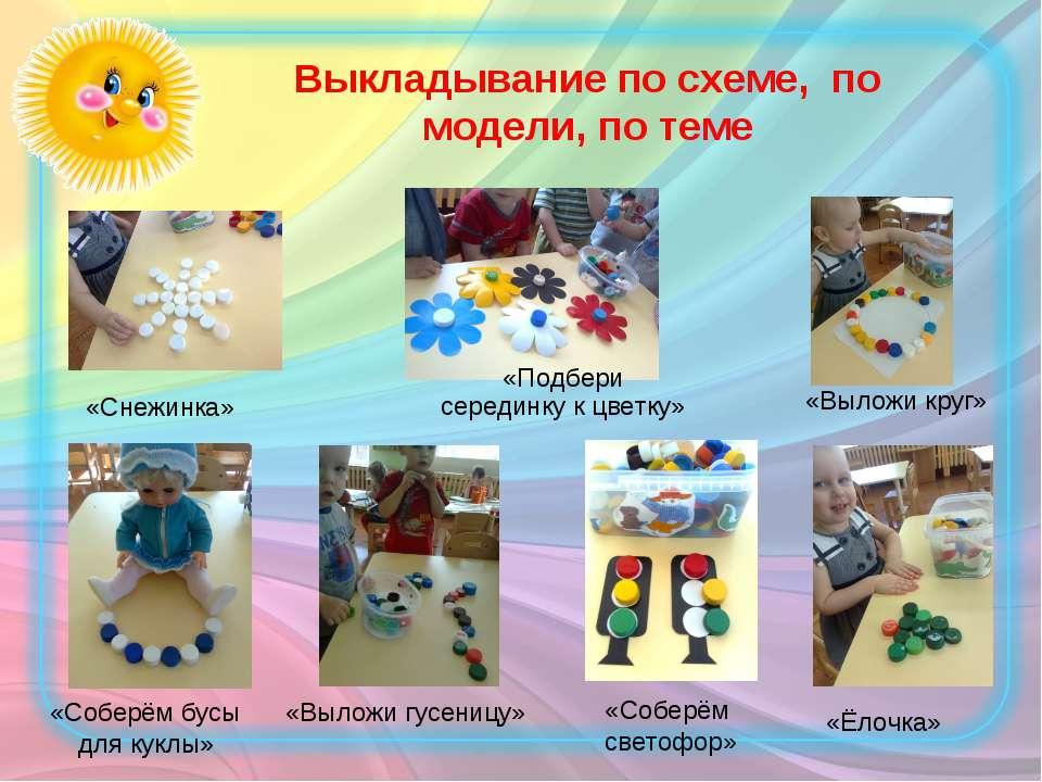 Выкладывание по схеме, по модели, по теме «Соберём бусы для куклы» «Соберём с...