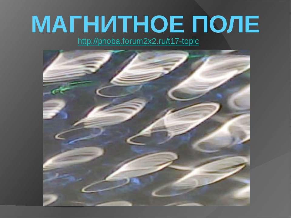 МАГНИТНОЕ ПОЛЕ http://phoba.forum2x2.ru/t17-topic