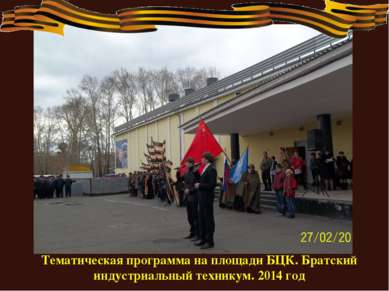 Тематическая программа на площади БЦК. Братский индустриальный техникум. 2014...