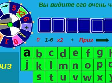 h c e r a e t 1-6 0 х2 + Приз Шанс Вы видите его очень часто 0 Приз Приз Шанс...