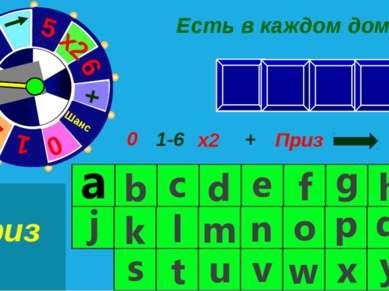 a h i r c 1-6 0 х2 + Приз Шанс 0 Есть в каждом доме Приз Приз Шанс + 5 4 3 2 ...