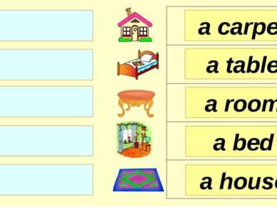 a room a table a carpet a bed a house