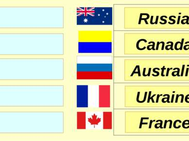 Russia Canada Australia France Ukraine