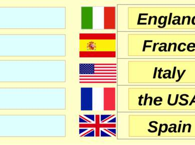 England France Italy Spain the USA
