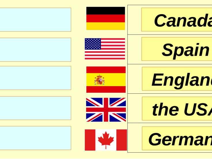 England Spain Canada the USA Germany