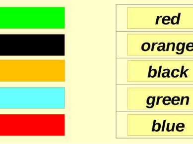 red orange black blue green