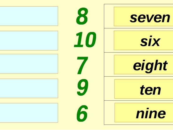 seven six eight nine ten