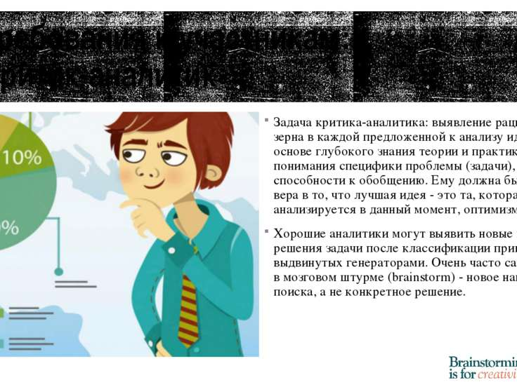 Требования к участникам: Критик-аналитик Задача критика-аналитика: выявление ...