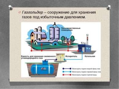 Газгольдер– сооружение для хранения газов под избыточным давлением.