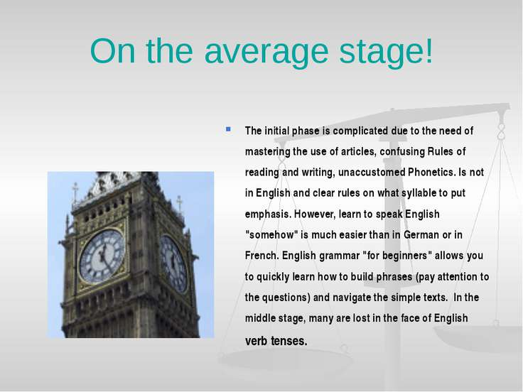 On the average stage! The initial phase is complicated due to the need of mas...