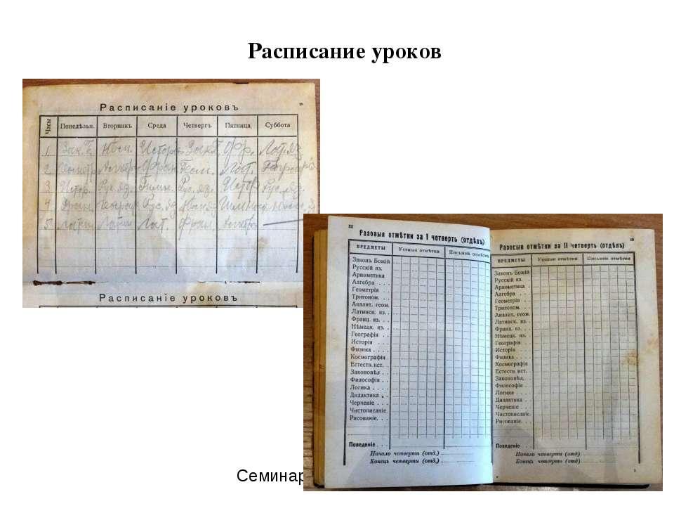 Расписание уроков Семинар проф. К.Крутий. Занятие 3