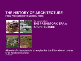 The history of Architecture from Prehistoric to Modern times: The Album-2: TH...