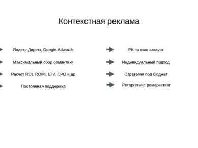 www.royal-m.ru Контекстная реклама Яндекс.Директ, Google.Adwords Максимальный...