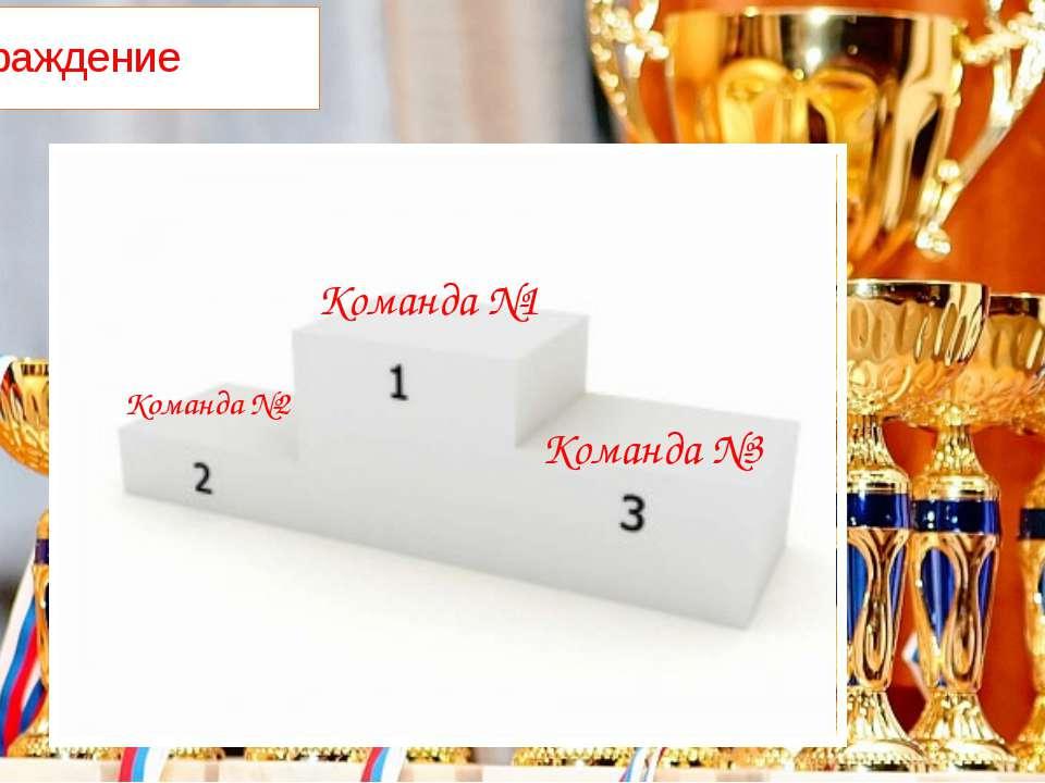 Награждение Команда №1 Команда №2 Команда №3