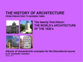 THE WORLD's ARCHITECTURE OF THE 1920's / The history of Architecture from Pre...