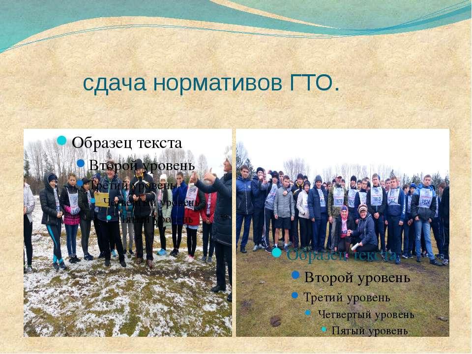 сдача нормативов ГТО.