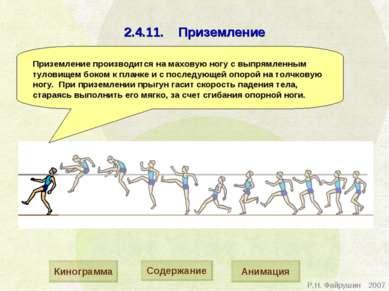 2.4.11. Приземление Приземление производится на маховую ногу с выпрямленным т...