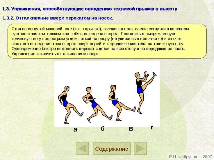 1.3. Упражнения, способствующие овладению техникой прыжка в высоту Стоя на со...