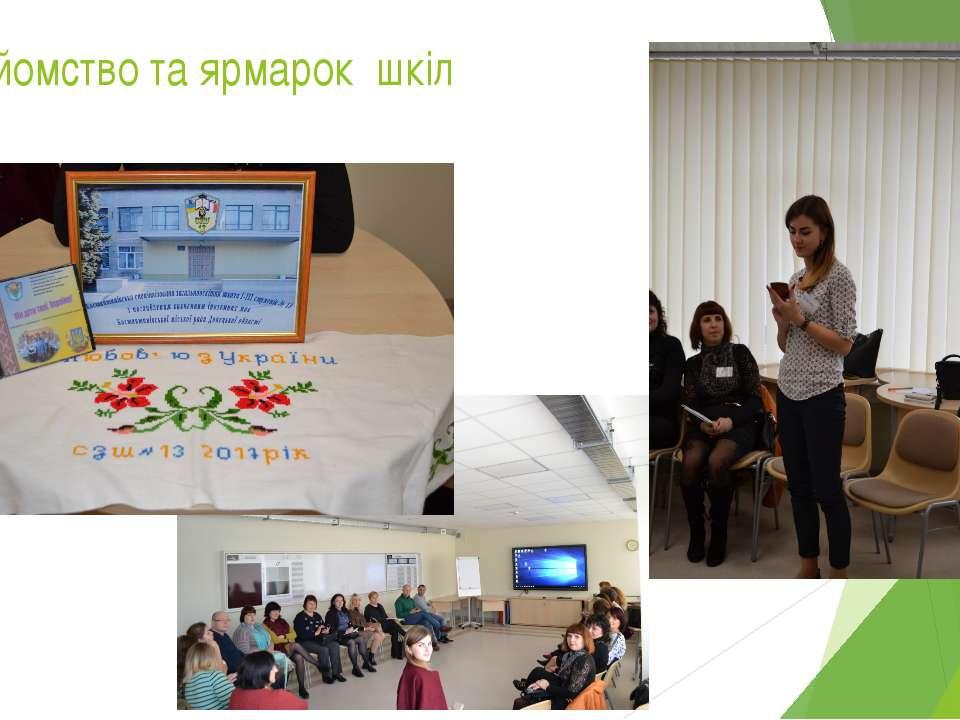Знайомство та ярмарок шкіл Так у перший день нашого проекту ми мали можливіст...