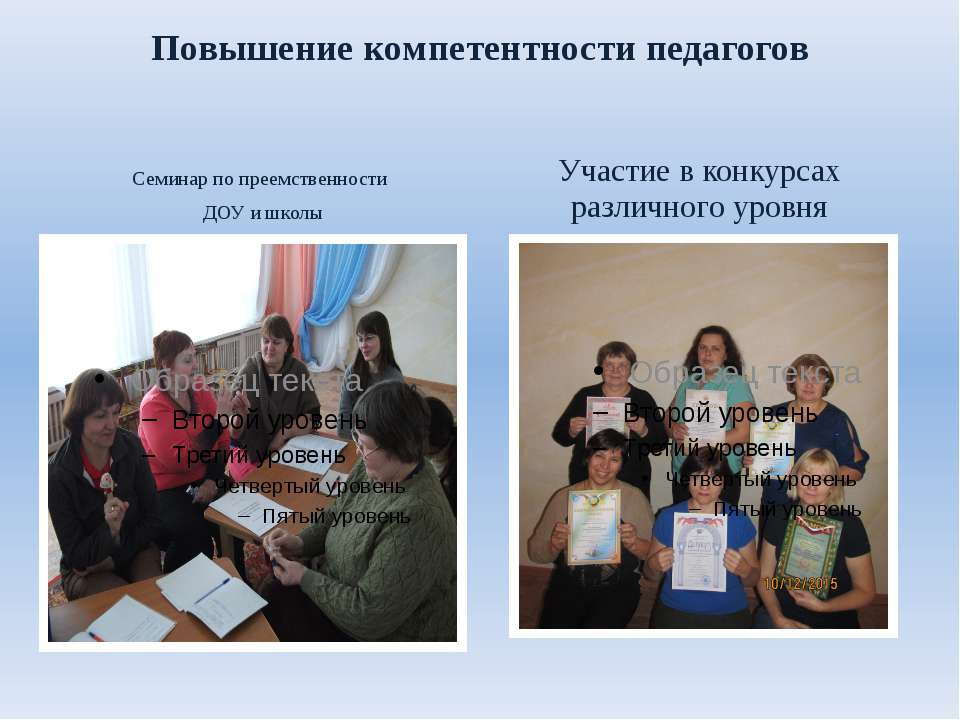 Повышение компетентности педагогов Семинар по преемственности ДОУ и школы Уча...