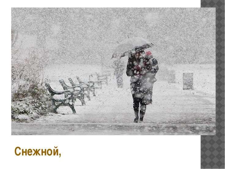 Снежной,