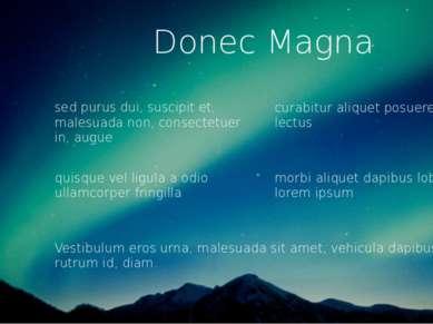 Donec Magna sed purus dui, suscipit et, malesuada non, consectetuer in, augue...
