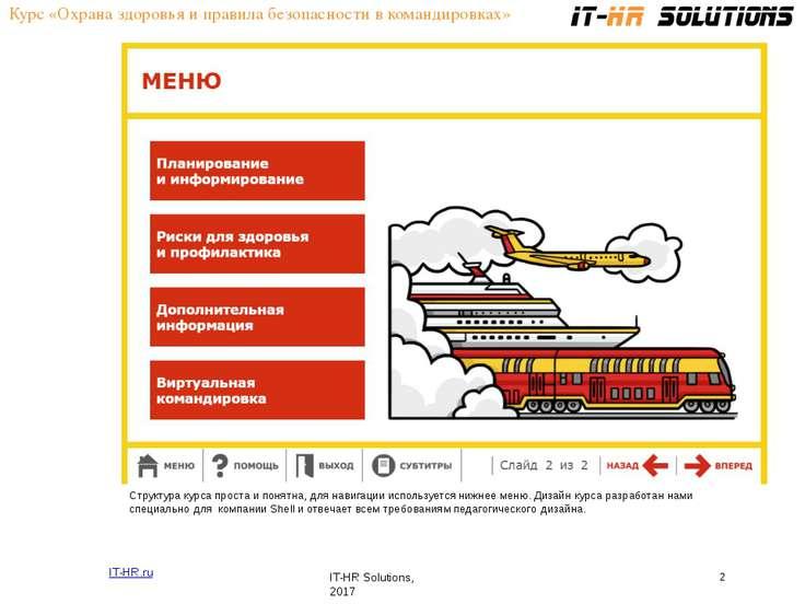 Курс «Охрана здоровья и правила безопасности в командировках» IT-HR.ru IT-HR ...