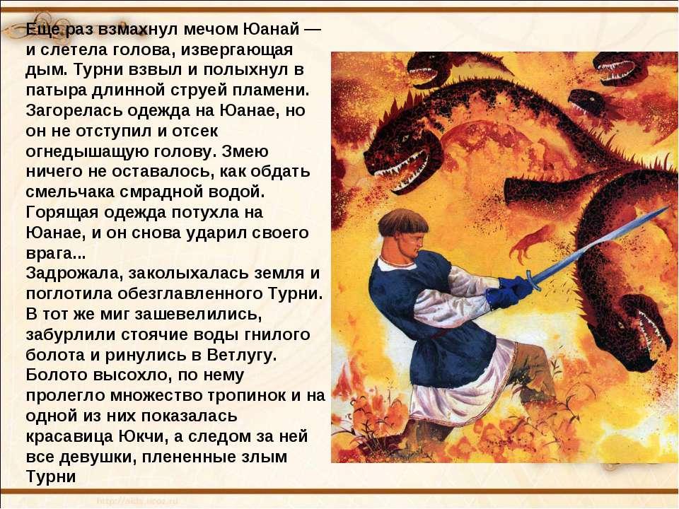 Еще раз взмахнул мечом Юанай — и слетела голова, извергающая дым. Турни взвыл...