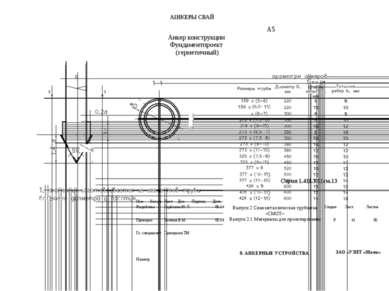 А1НКЕРЫСВАЙ А5 АнкерконструкцииФундаментпроект (герметичный) Серия 1.411.3-11...