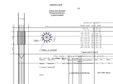 А1НКЕРЫСВАЙ А6 АнкерконструкцииФундаментпроект (герметичный) Серия 1.411.3-11...