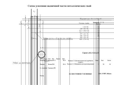 Схемаусиления оконечнойчасти металлическихсвай Серия 1.411.3-11см.13 Изм Колу...