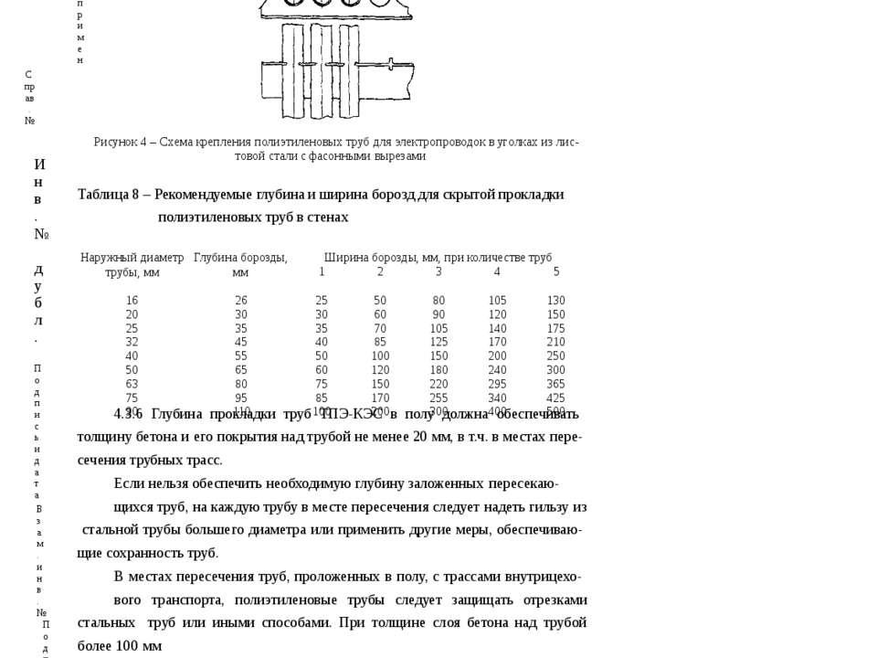Наружныйдиаметр трубы,мм Глубинаборозды, мм Ширина борозды,мм, при количестве...