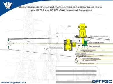Перестановка металлической свободностоящей промежуточной опоры типа П220-2 дл...