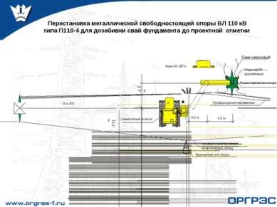 Перестановка металлической свободностоящей опоры ВЛ 110 кВ типа П110-4 для до...