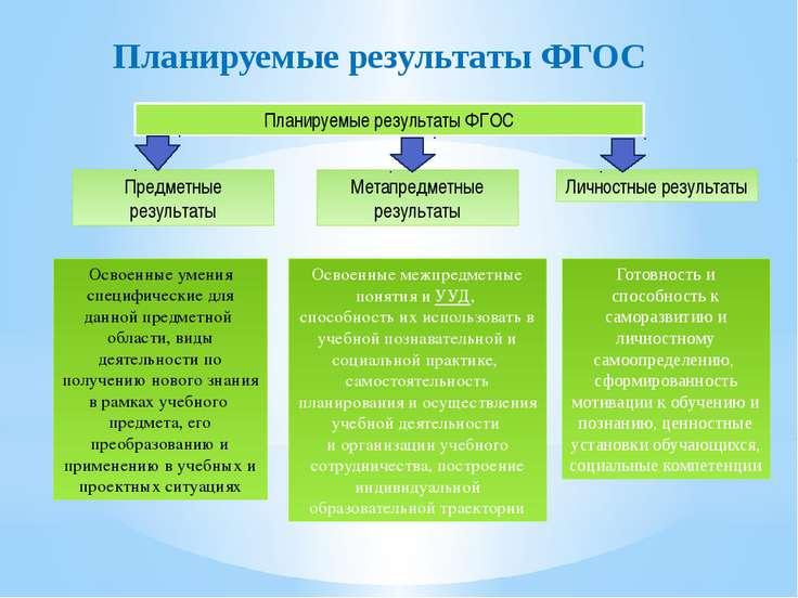 Планируемые результаты ФГОС Планируемые результаты ФГОС Предметные результаты...