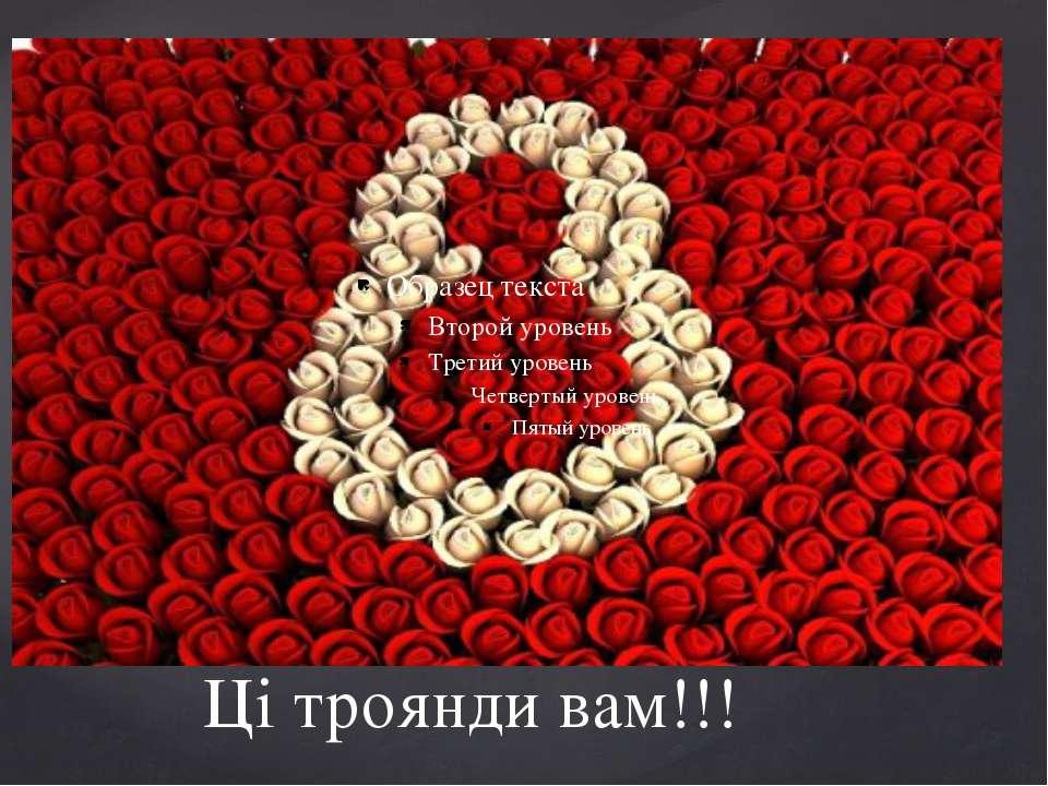 Ці троянди вам!!!