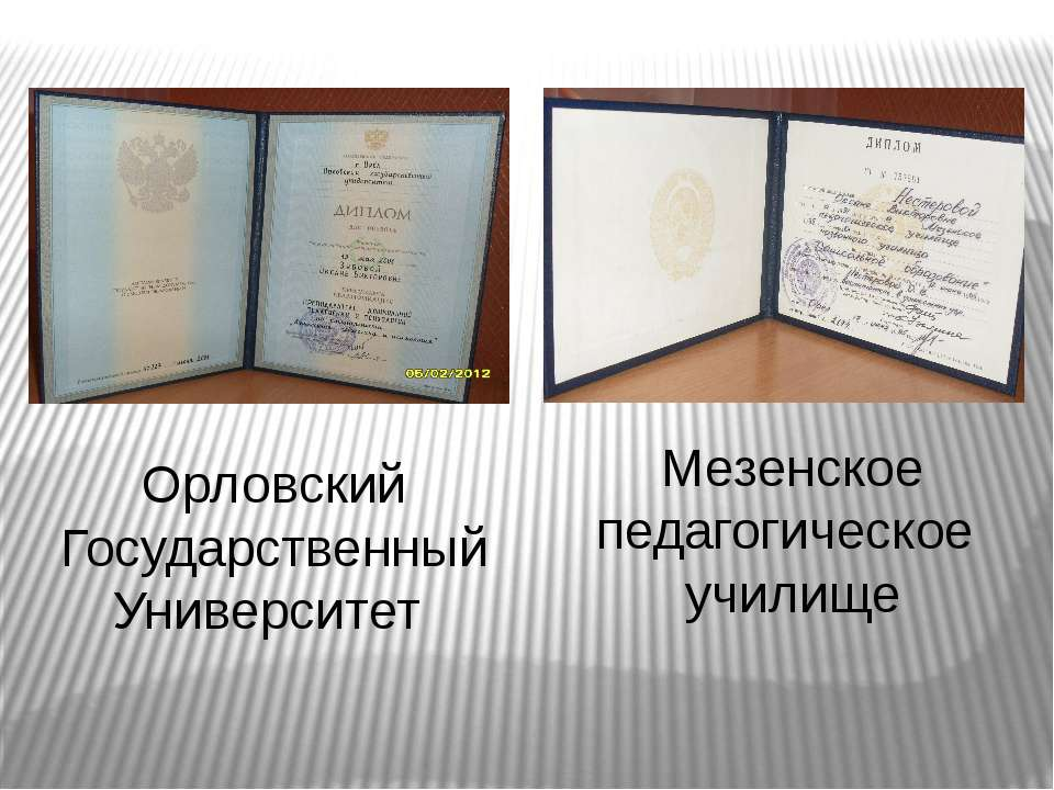 Орловский Государственный Университет Мезенское педагогическое училище