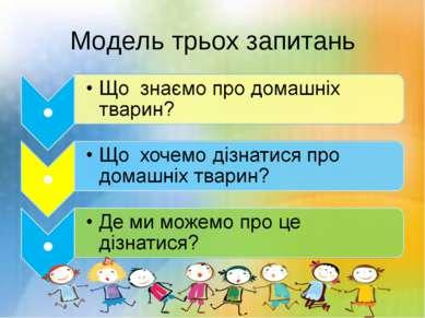 Модель трьох запитань