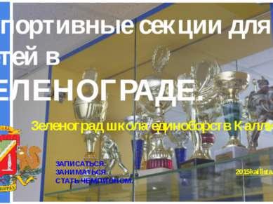 Спортивные секции для детей в ЗЕЛЕНОГРАДЕ. Зеленоград школа единоборств Калли...