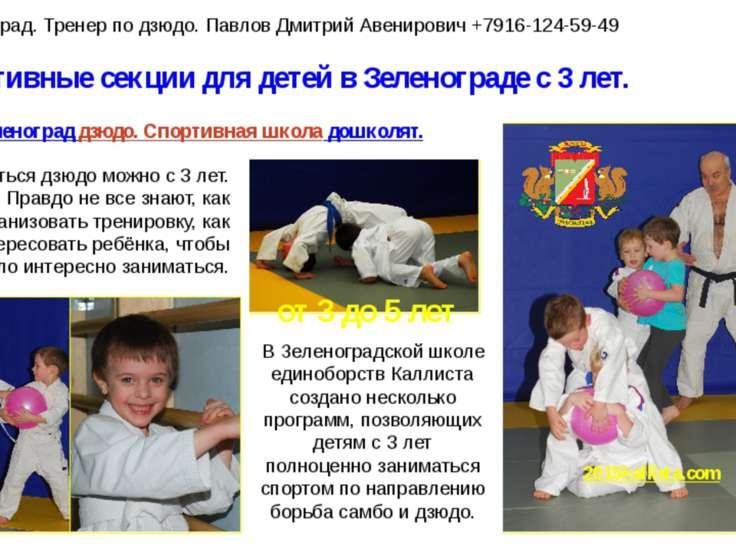 Спортивные секции для детей в Зеленограде с 3 лет. Зеленоград дзюдо. Спортивн...