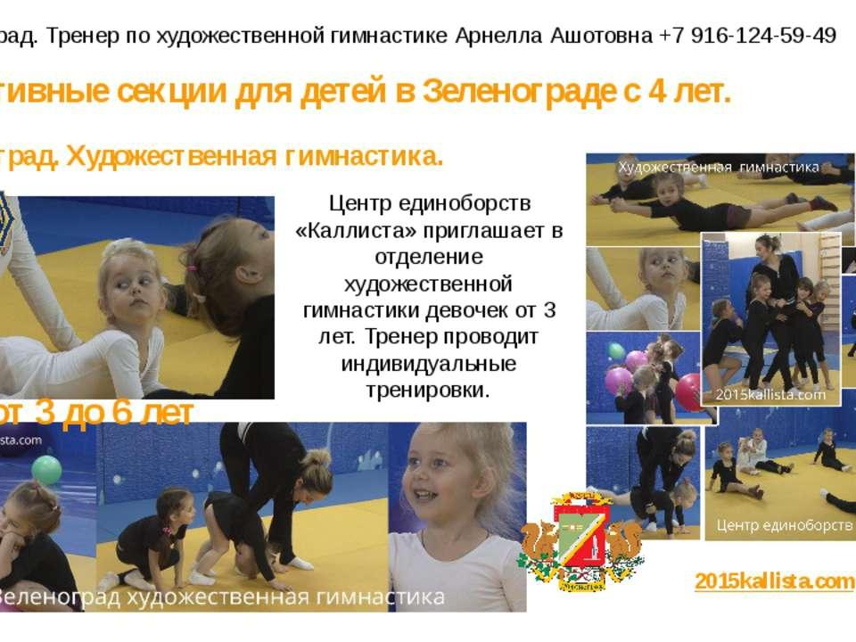 Спортивные секции для детей в Зеленограде с 4 лет. Зеленоград. Художественная...