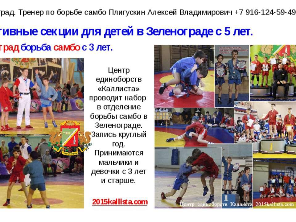 Спортивные секции для детей в Зеленограде с 5 лет. Зеленоград борьба самбо с ...