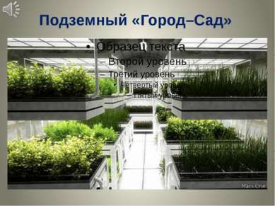 Подземный «Город–Сад»