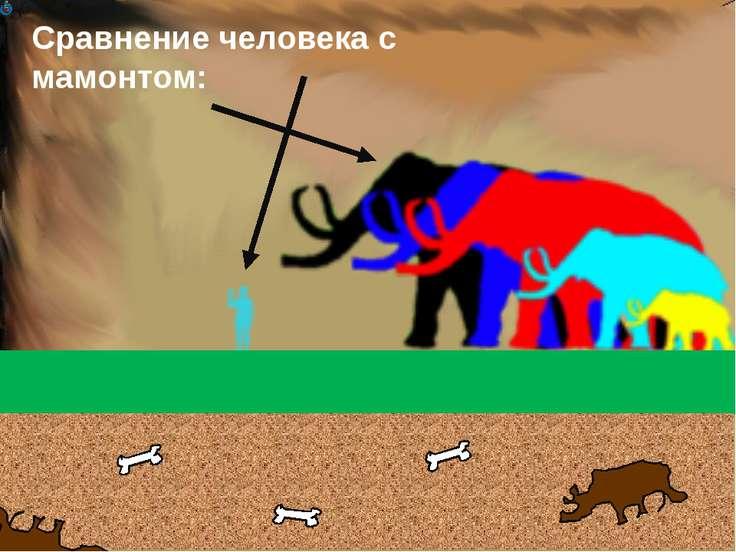 Сравнение человека с мамонтом: