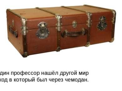 Один профессор нашёл другой мир проход в который был через чемодан.