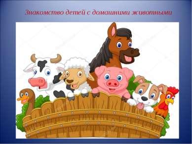 Знакомство детей с домашними животными