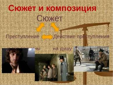 Сюжет и композиция Сюжет Преступление Действие преступления и его причины на ...