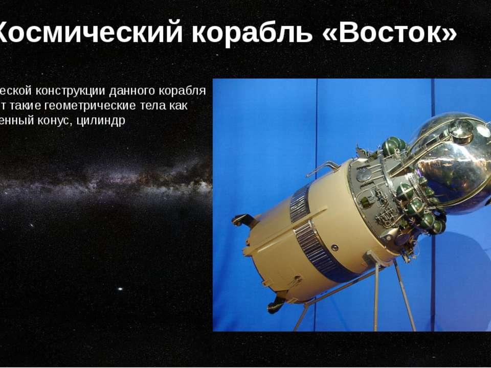Космический корабль «Восток» В геометрической конструкции данного корабля при...
